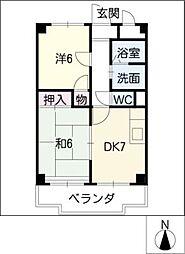ペルテ名駅[8階]の間取り