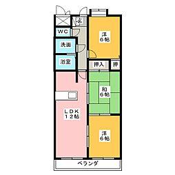 マンション豊島[2階]の間取り