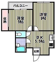 ロイヤルコート1番館[7階]の間取り