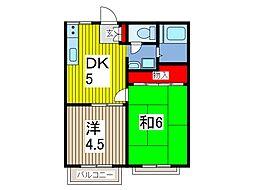 ハイツサキタマ[2階]の間取り
