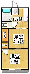 第五中村荘[2階]の間取り