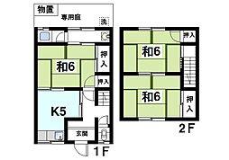 [テラスハウス] 奈良県奈良市山陵町 の賃貸【奈良県 / 奈良市】の間取り
