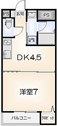 セミュ川内II[306号室]の間取り