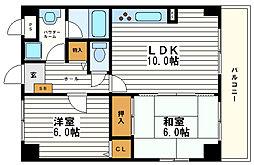 ホワイトマーブル[3階]の間取り