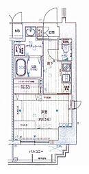 Osaka Metro千日前線 阿波座駅 徒歩8分の賃貸マンション 9階1Kの間取り
