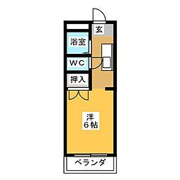 コーポコスモ B[2階]の間取り