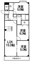 北海道札幌市西区西野三条2丁目の賃貸マンションの間取り