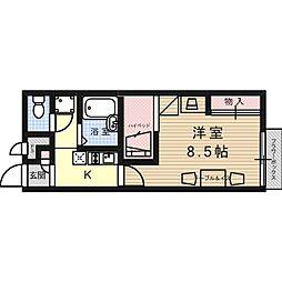 大阪府高槻市安満西の町の賃貸アパートの間取り