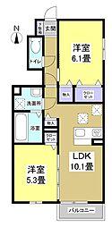 仮)D-room鷲巣[1階]の間取り