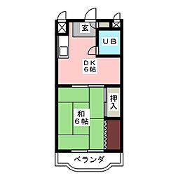 サンハイツこざくら[3階]の間取り