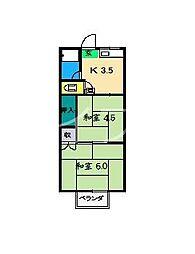 ハッピー旭2号館[2階]の間取り