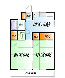緑ヶ丘マンション[B-1号室]の間取り