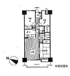 神奈川県茅ヶ崎市今宿の賃貸マンションの間取り