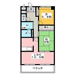 ジュネスコトーかみ沢[2階]の間取り