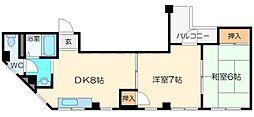 石川マンション[4階]の間取り