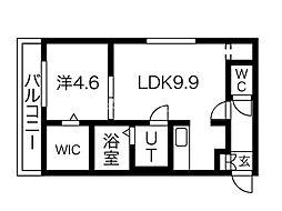 JADE円山 4階1LDKの間取り