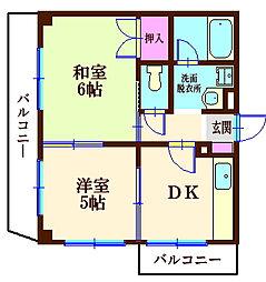 角田ビル[3階]の間取り
