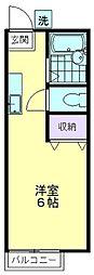 サングリーン久米川[A-102号室]の間取り