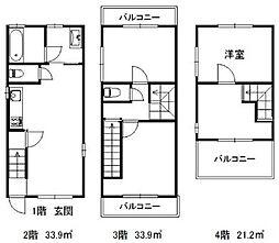 [一戸建] 東京都杉並区高円寺南3丁目 の賃貸【/】の間取り