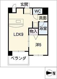 ANNEX冨田[8階]の間取り
