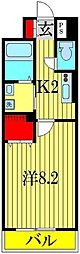 アミティエ八潮[6階]の間取り