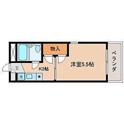 静岡県静岡市駿河区大和2丁目の賃貸マンションの間取り