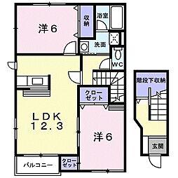 北海道札幌市厚別区厚別東四条7丁目の賃貸アパートの間取り