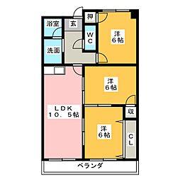 ケイツーホソノ[7階]の間取り