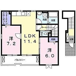 ジラソーレ近江八幡[0201号室]の間取り