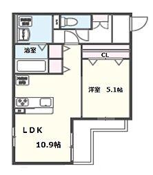 アメニティハウス玉川[3階]の間取り