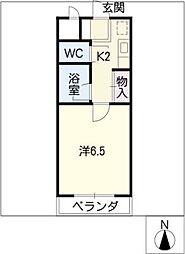 エステート白塚[2階]の間取り