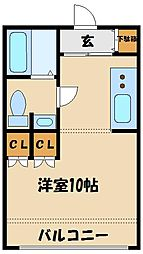 プール・トゥージュール[2階]の間取り
