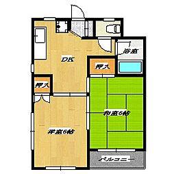 Tamai building[402号室]の間取り