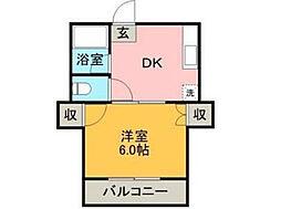 チェリーマンション[2階]の間取り