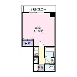西津田中村コーポ[8階]の間取り