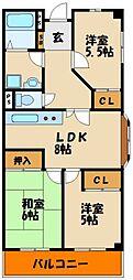 パブリックマンションノーアII[3階]の間取り