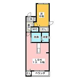 PRIUS若田[3階]の間取り
