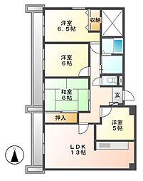 宝マンション大須[12階]の間取り