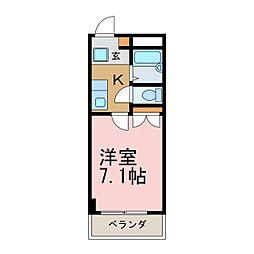 愛知県名古屋市昭和区北山町1丁目の賃貸マンションの間取り