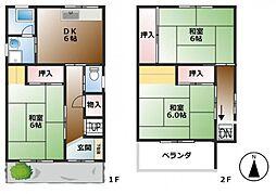 [タウンハウス] 兵庫県尼崎市大島3丁目 の賃貸【/】の間取り