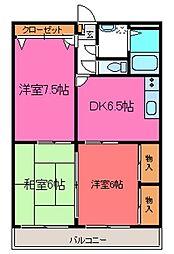 ソレイユ香栄II[3階]の間取り