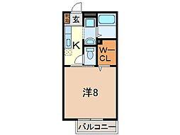 静岡県沼津市駿河台の賃貸アパートの間取り