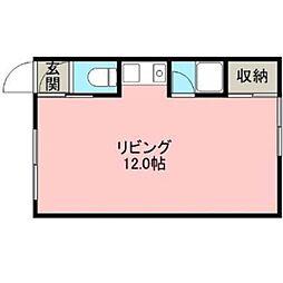 小林マンションB棟[1階]の間取り