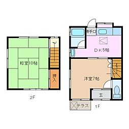 [一戸建] 三重県四日市市富田4丁目 の賃貸【/】の間取り