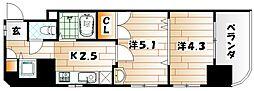 フェリス戸畑駅東[7階]の間取り