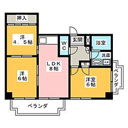 アスト鴻ノ巣[4階]の間取り