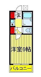 千代田ハイツ[1階]の間取り