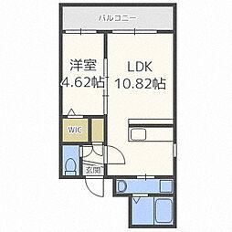 北海道札幌市中央区南四条西9の賃貸マンションの間取り
