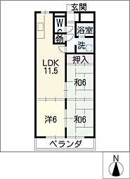 コンフォトゥール[6階]の間取り