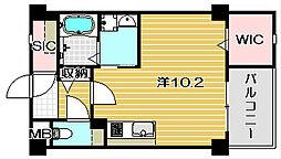 大阪府茨木市双葉町の賃貸マンションの間取り